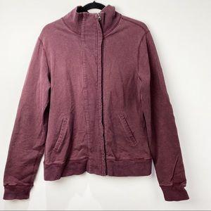 Lululemon burgundy zip up sweatshirt